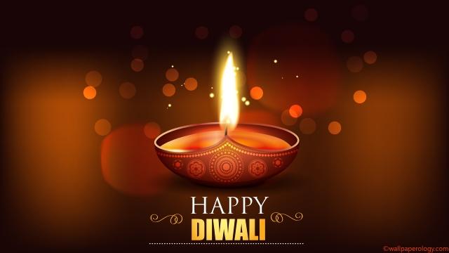 Lighted diya for Diwali